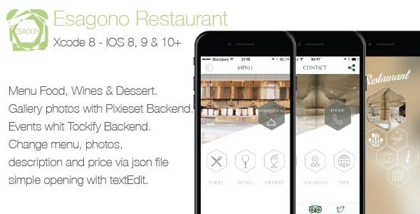 Restaurant Esagono IOS Template by UnoStile | CodeCanyon