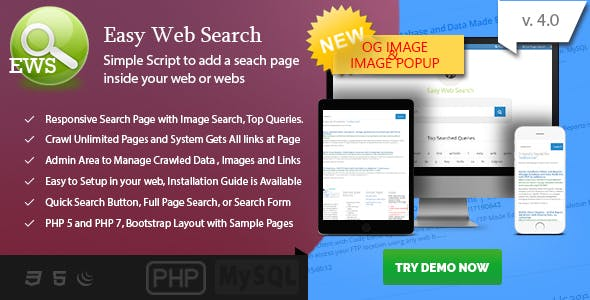 186f72df9866c3 Easy Web Search - PHP Search Engine with Image Search and Crawling System -  CodeCanyon Item
