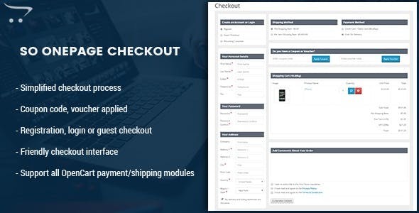OnePage Checkout - Fast & Responsive Checkout Module for OpenCart 3