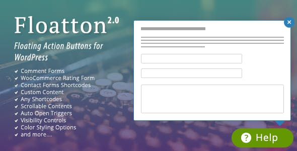 Floatton | WordPress Floating Action Button with Pop-up Contents for
