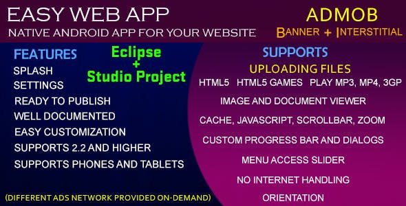 Easy Web App by vishalbodkhe | CodeCanyon