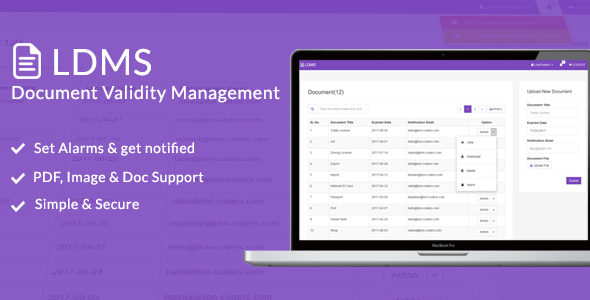 LDMS - Document Validity Manager by LionCoders | CodeCanyon