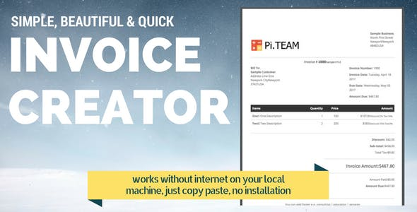 invoice generator plugins code scripts from codecanyon