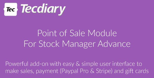 POS Module for Stock Manager Advance