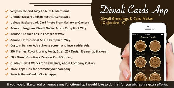 Greeting card plugins code scripts from codecanyon diwali greetings card maker diwali sms ios app objective c x m4hsunfo