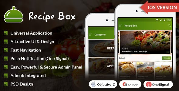 Make a recipe app with mobile app templates from codecanyon page 2 tags recipe recipe app admob cook book cook recipe food recipe full application for recipes ios 11 ios app ios recipe ios recipe app recipe cook forumfinder Images