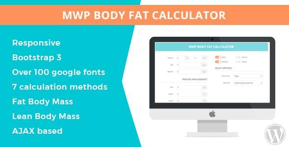 body fat percentage calculator plugins code scripts