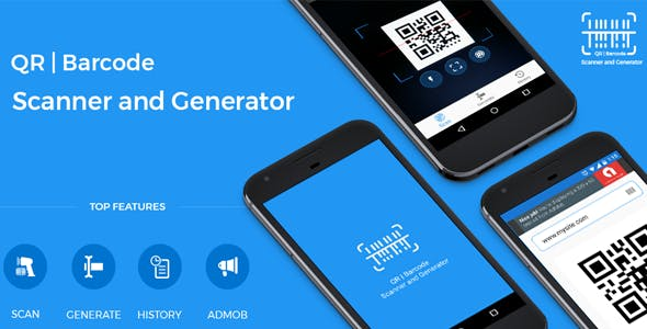 QR code and Barcode scanner and generator for Android with AdMob by