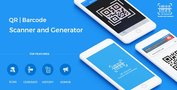 QR Code & Barcode Scanner and Generator for iOS Swift with AdMob by