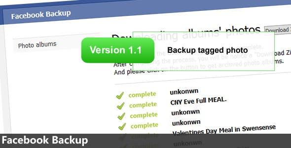 Backup Facebook, Backup Facebook Photos, and Download Facebook