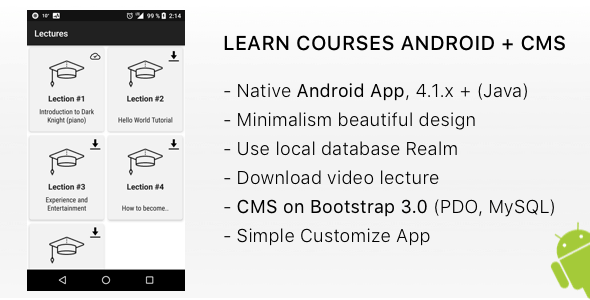LEARN Courses Android + CMS by severinov_na | CodeCanyon