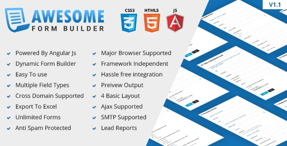 Awesome - Angular JS Form Builder Free Download | Download