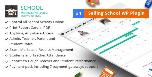School Management System for Wordpress by dasinfomedia | CodeCanyon