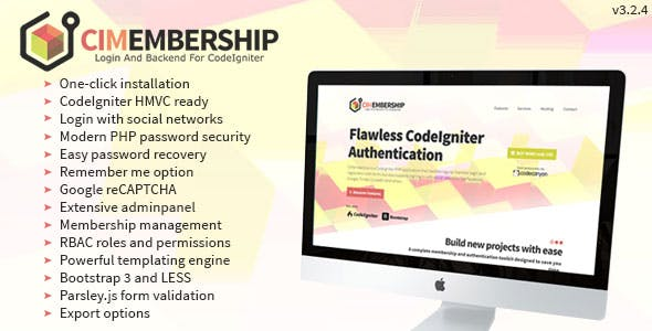 Codeigniter Membership Social Login Adminpanel And Roles Permission System Codecanyon Item For