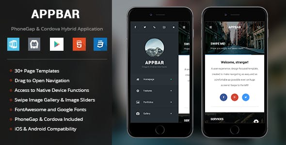 Phonegap plugins code scripts from codecanyon appbar phonegap cordova mobile app maxwellsz