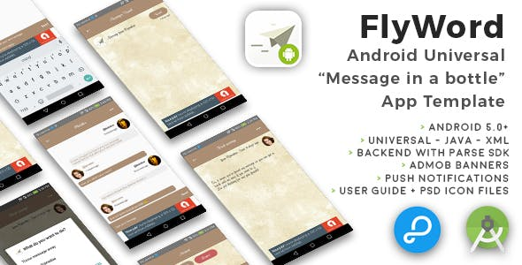flyword android universal message in a bottle app template by