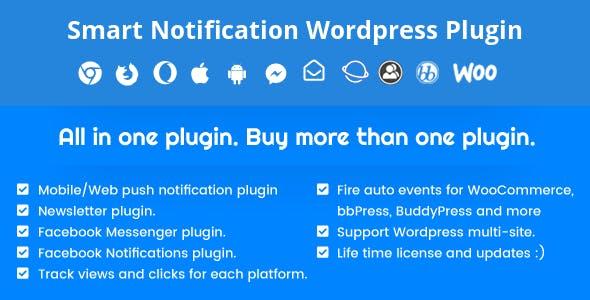 Smart Notification Wordpress Plugin  Web & Mobile Push, FB Messenger