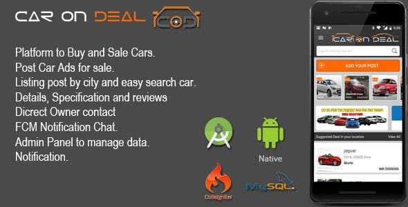 Make A Buy Sell Old Car App With Mobile App Template