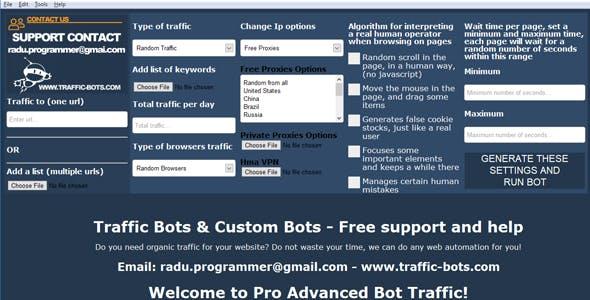 Pro Advanced Bot Traffic by BotsTraffic | CodeCanyon