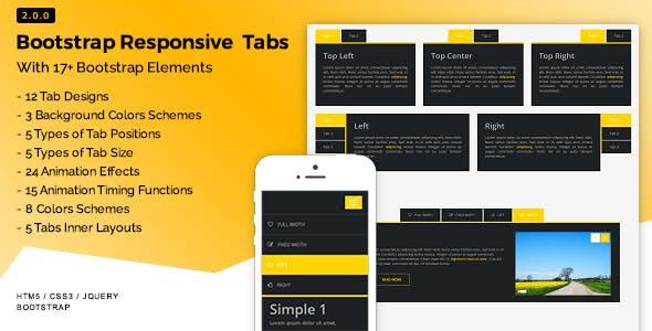 Bootstrap Tabs With Slider