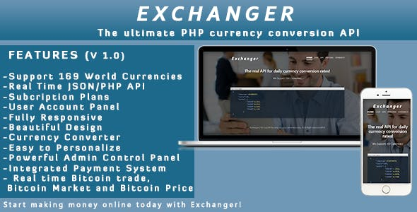 Exchanger Currency Converter Api Realtime Cryptocurrency Codecanyon Item For