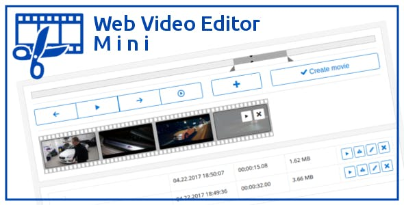 Web Video Editor Mini by andycoder | CodeCanyon