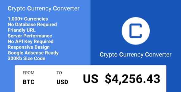 Crypto Currency Converter Codecanyon Item For