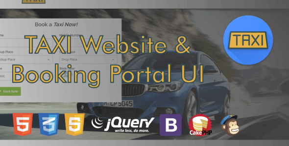 Taxi Website and Booking Portal UI by PVR_TECH_STUDIO | CodeCanyon