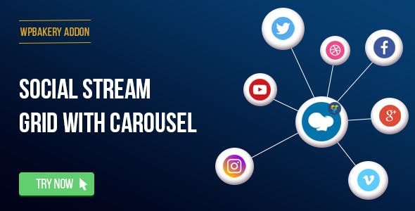 WPBakery Page Builder - Social Streams With Carousel (formerly Visual  Composer) - CodeCanyon Item c637aaae1302b