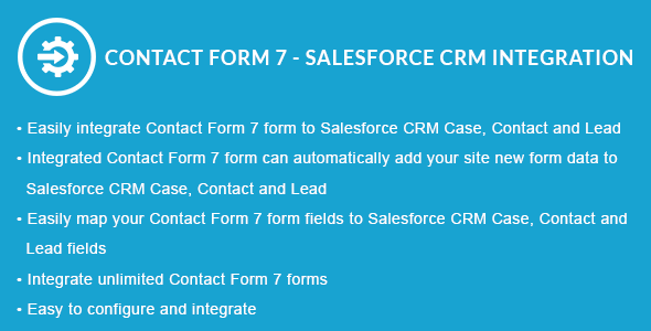 Contact Form 7 - Salesforce CRM Integration by obtaincode