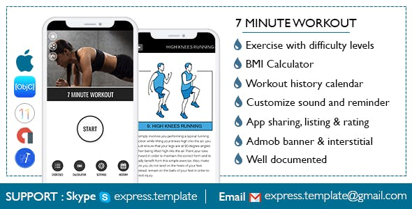 make a fitness app with mobile app templates from codecanyon