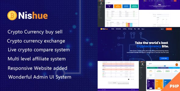 Nishue - CryptoCurrency Buy Sell Exchange and Lending with MLM System   Live Crypto Compare - CodeCanyon Item for Sale