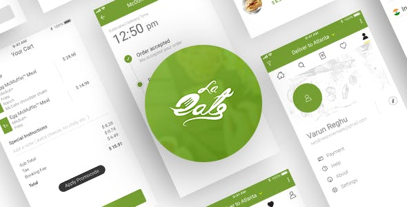 On Demand Food Delivery App Template by CodeInfoTec | CodeCanyon