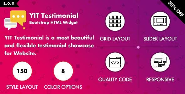 YIT Testimonial - Multiple Colors & Styles by yankeethemes | CodeCanyon