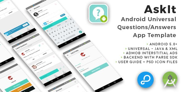 AskIt | Android Universal Questions/Answers App Template free script