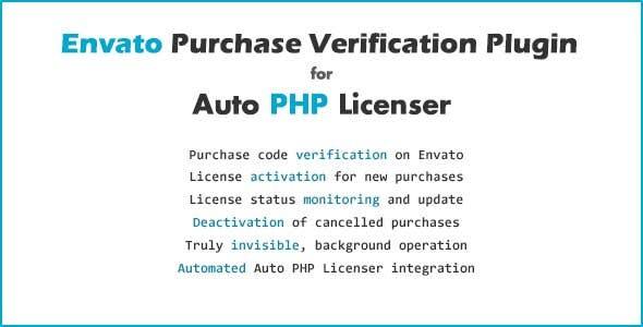 Envato Purchase Verification Plugin for Auto PHP Licenser
