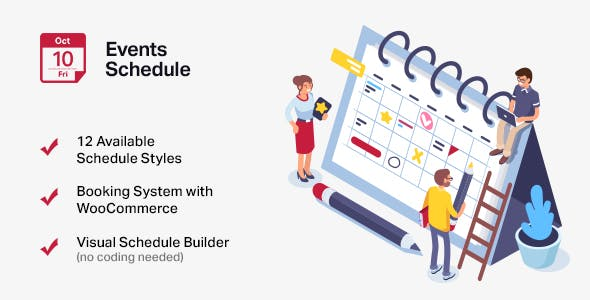 events schedule wordpress events calendar plugin by curlythemes