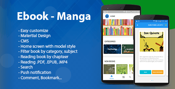 Make A Epub App With Mobile App Templates from CodeCanyon