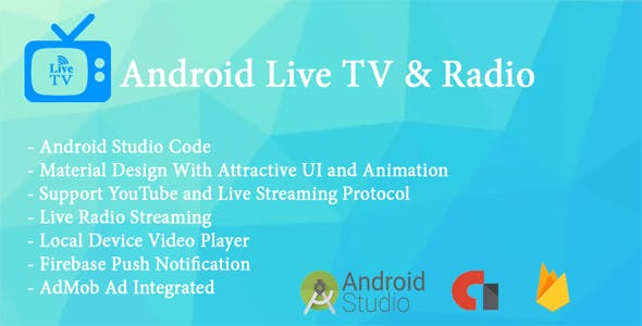 Live TV App With Radio Streaming and Local Video Player by