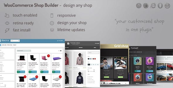 WooCommerce shop page builder - Create any shop grid / table with