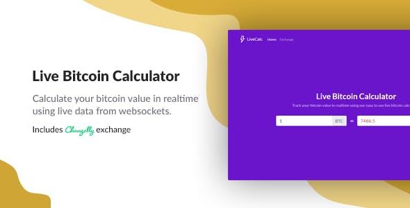 Live Bitcoin Calculator Codecanyon Item For