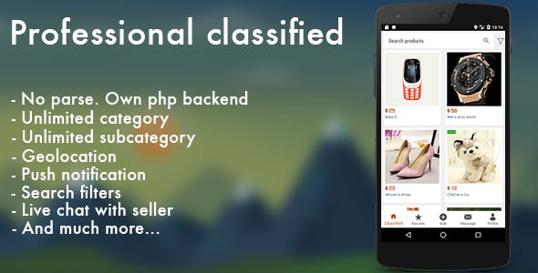 professional classified with chat android by appteve codecanyon