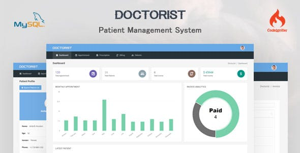 Doctorist - Patient Management System - CodeCanyon Item for Sale