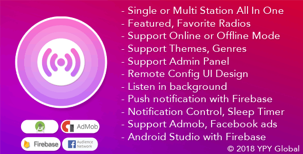 XRadio - Best Radio Template For Android by ypyglobal