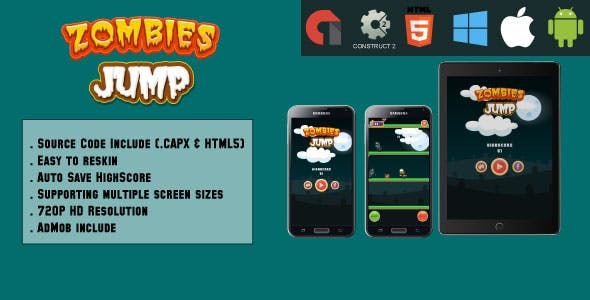 download Jumping Monsters - HTML5 Game - Mobile & Web (HTML5
