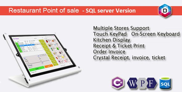Restaurant Point of Sale - Rest POS - C# WPF SQL by dynamicsoft