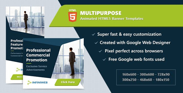 Google Web Designer HTML Templates From CodeCanyon - Google web designer templates