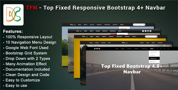 responsive navbar Free Download | Envato Nulled Script