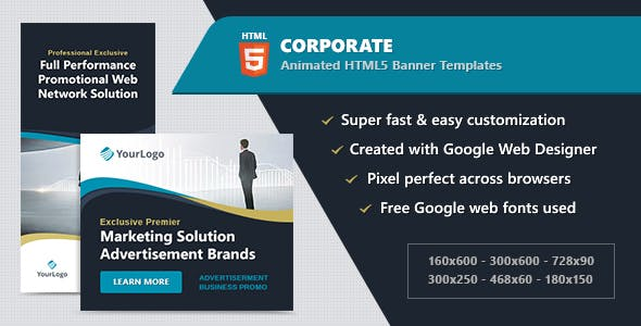 Google Web Designer HTML5 Templates from CodeCanyon