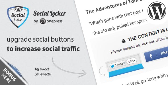 - sociallocker wp inline - Plugins